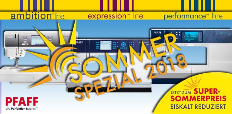 1 PFAFF Sommer-Spezial-Angebot 2018