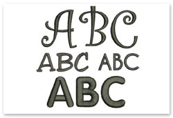 Bernina Embroidery Plus - Alphabete