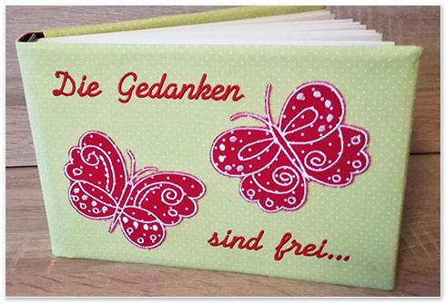 nähPark Stickmuster Spring Butterflies Buch